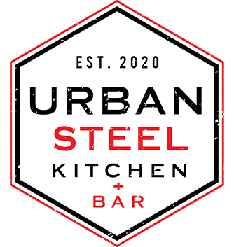 urban steel kitchen and bar logo